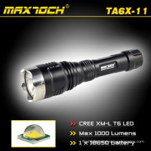 Maxtoch TA6X-11 Cree 18650 Rechargeable 1000lm LED Flashlight