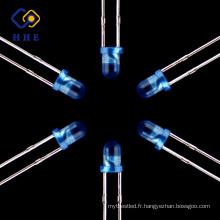 Produits chauds à vendre en ligne Diodes rondes diffusées de couleur bleue de Dipes diffusés par 3mm