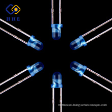 Hot products to sell online Round Dip Diffused 3mm Blue Color Led Diodes