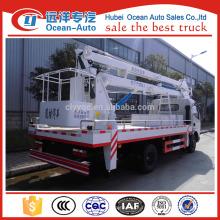 Dongfeng 4 * 2 camion avec godet de travail (hauteur maximale de travail 18 m)