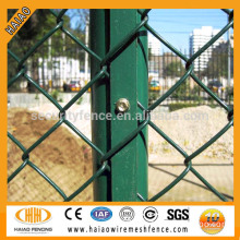 Basketball field PVC coated square wire mesh chain link fence