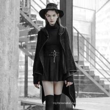 OPY-349 PUNK RAVEwomen korea fashion long coat  Irregular Hem Woolen Sleeve coat