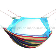 OEM Nylon Outdoor Camping Bed Hammock with Zipper Mosquito Net