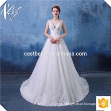 Vestido de bola de marfil del vestido de boda del cordón del Neckline del amor Vestidos De Novia 2016 Vestido de bola del vestido de bola del vestido Robe De Mariage Mariee