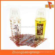 Raw material package heat shrink water bottle custom label for tea
