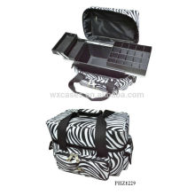 hot sell&waterproof makeup bag with 3 trays inside manufacturer