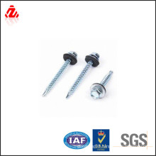 Carbon steel self drilling roofing screw with EPDM washer