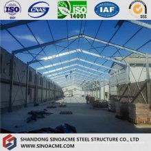 Atelier de prolongement de la structure en acier
