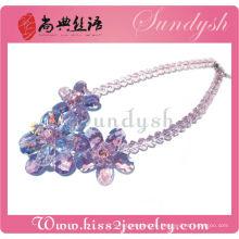 Sundysh einzigartige handgefertigte Halskette Schmuck Kristall Halsband