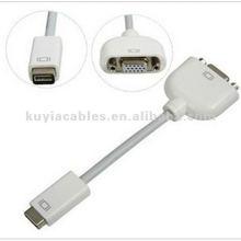Super Mini DVI para VGA Cable Monitor Adapter Cabo de vídeo f