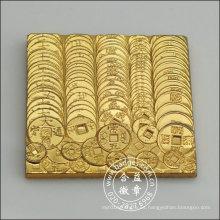Insignia cuadrada de oro, pin de solapa de metal (GZHY-BADGE-003)
