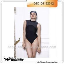2013 traje de baño al por mayor de cuello alto para mujeres, traje de baño de una pieza
