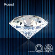 Synthetic Diamond Brilliant Cut Gemstone Beads (STG-107)