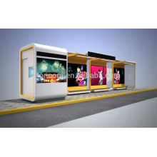 THC-56A large transit shelter with kiosk