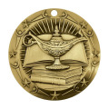 Gold Knowledge Academic Die Cast Medalla