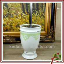 New design wholesale ceramic porcelain toilet brush holder