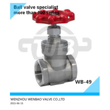 "Casted Steel CF8 Gate Valve 2"" 200 Wog Price"