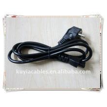 NUEVO PREMIUM UE 2 Prong Adaptador de ordenador portátil Cable de alimentación Cable de cable de 2 pines NEGRO Europeo