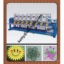 Máquina de bordar computadorizada de 8 cabeças para calçado / t-shirt / boné / bordado plano máquina de bordar computadorizada inteligente