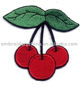 embroidery fruit patch applique for children wearing apparel