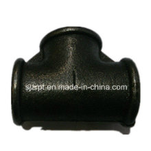 Black Beaded Tee Malleable Iron Pipe Fittings
