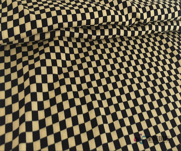 Geometric Check 100% Rayon Printed Fabric