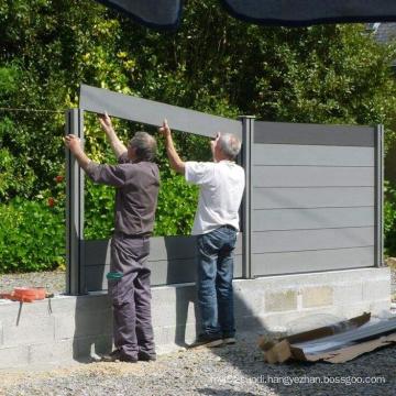 WPC retractable fencing for gardens