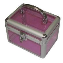 Caso de maquillaje de aluminio, kit de manicura