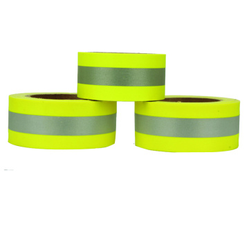 Lime-yellow cheap not Flame Retardant Reflective warning Tape For Safety Clothing