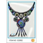 Garment ornament beads applique neckline trim for dress applique