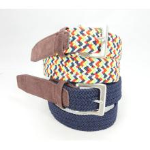 Elastic Braided Woven Belt of Metal Buckle