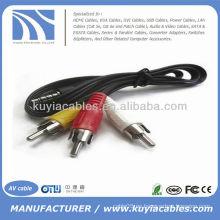 Jack de 3,5 mm a 3 cables de adaptador de audio AV de vídeo RCA