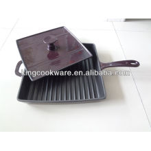 Enamelled Cast Iron Grill Pan with Press