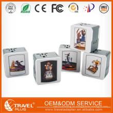 Universal world travel plug adaptador de alimentação com 5V 1.4A 2.4A 2 usb port charger