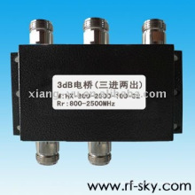 100W 800-2500MHz 3dB Hybridantennenkoppler