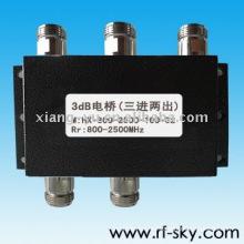 Acoplador de la antena de los híbridos de 100W 800-2500MHz 3dB
