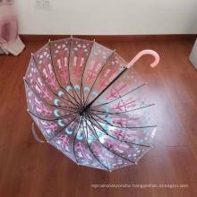 Customized POE Material Umbrella Logo Transparent Umbrella
