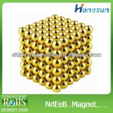 N35 neodímio motor de bola de ouro / ímãs de magnetização