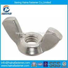 Fournisseur chinois En stock Fournisseur chinois DIN315 Aile à aiguille en acier inoxydable / écrou papillon.