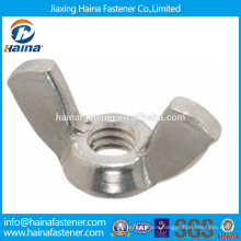 China Supplier In Stock Chinese Supplier DIN315 Stainless Steel wing nut/butterfly nut .