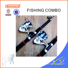FDSF426 barras de pesca telescópicas baratas de fibra de vidrio telescópica pesca caña de pescar conjunto
