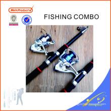 FDSF426 barato telescópica varas de pesca de fibra de vidro telescópica vara de pesca vara de pesca conjunto
