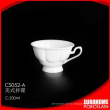 plato y taza de vajilla porcelana china 200 ml por mayor de estampado