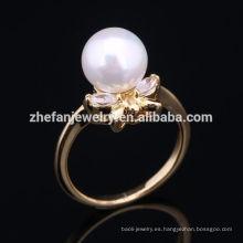 anillo de servilleta con cuentas de perlas de alta calidad de la venta caliente