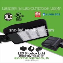 Zapatero deslizante 150w LED Pista de tenis Shoebox luz UL cUL DLC Listado