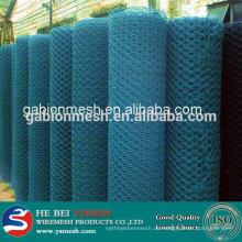 PVC-beschichtetes sechseckiges galvanisiertes Drahtgeflecht