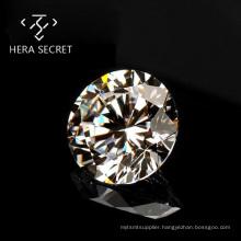 StunningFlame DE GH Round  Brilliant Cut diamond CVD CZ Moissanite