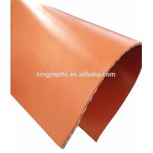 1.5mm resistência à temperatura de borracha de silicone à prova de fogo revestido tecido de fibra de vidro
