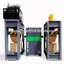 Hydraulic press machine for veneer wood with HF