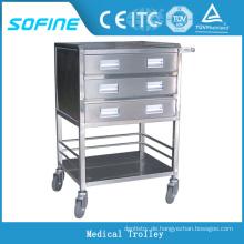 SF-HW2030 Krankenhaus verwenden Edelstahl Tray Trolley